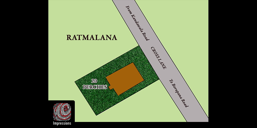 Old House on 20 perches for SALE in Rathmalana