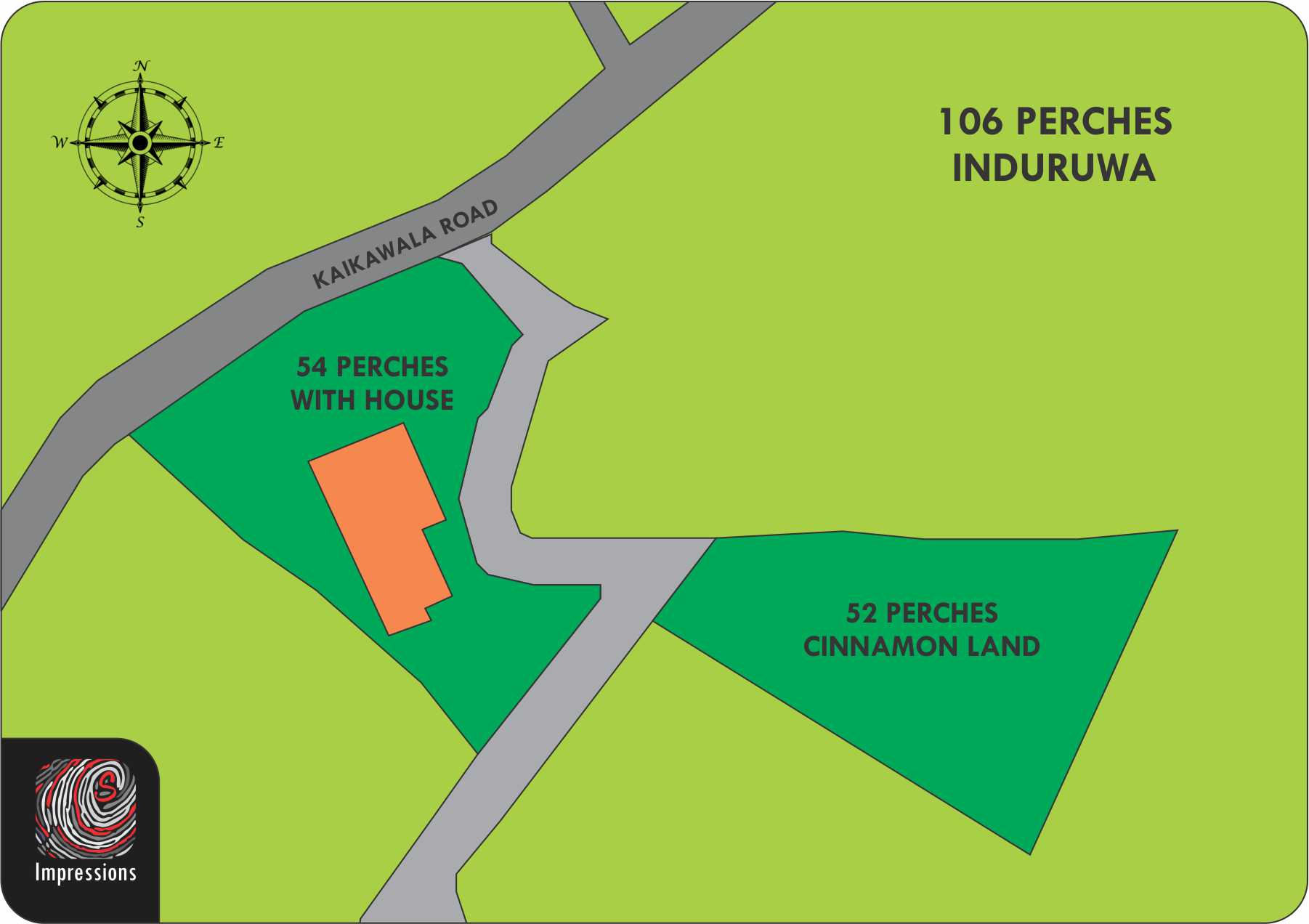 106 perches land with house on cinnamon plantation